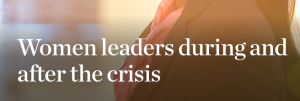 Rapport McKinsey - Women matter 2009 - Women leaders in and after the crisis